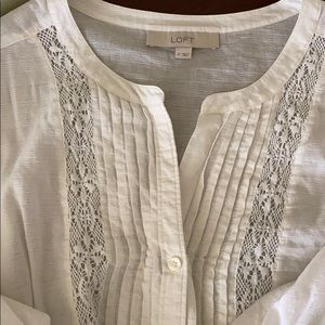 LOFT Women's Semi-sheer Shirt Size Small